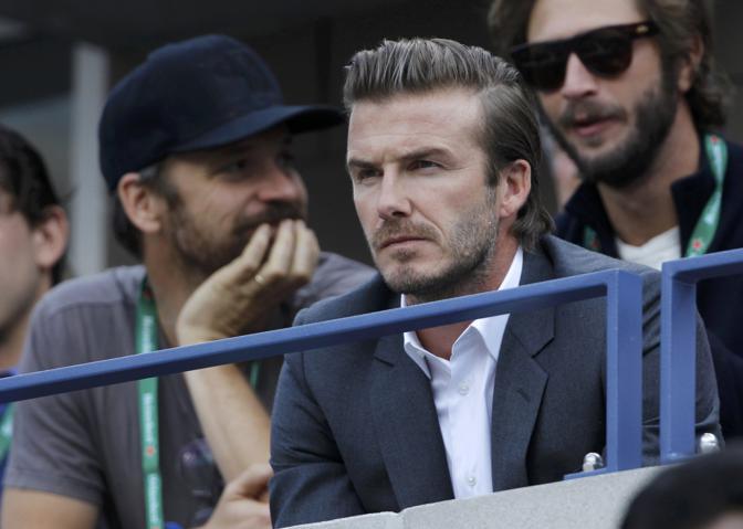 Moltissimi i vip sugli spalti: ecco David Beckham. Reuters