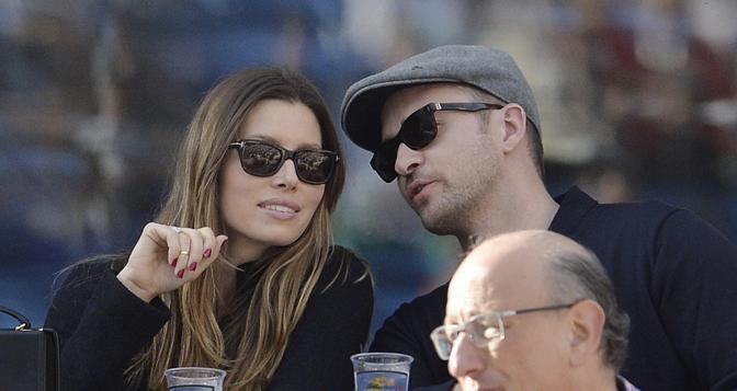 Jessica Biel e Justin Timberlake. Ansa