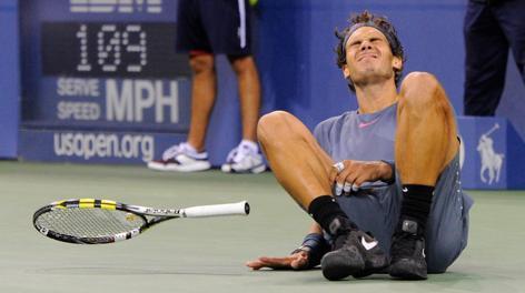 L'esultanza di Rafa Nadal a fine partita. Usa Today