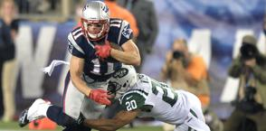 Julian Edelman, wide receiver dei Patriots. Epa