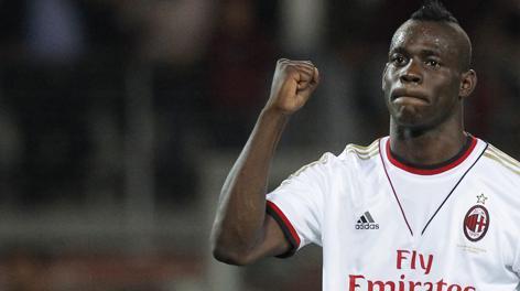 Balotelli implacabile dal dischetto ha salvato ancora il Milan. Afp