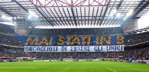 La Curva Nord dei tifosi dell'Inter. Bozzani