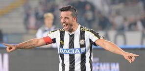 Totò Di Natale, sempre decisivo per la sua Udinese. Ansa