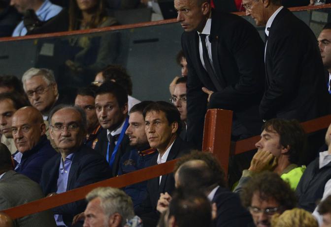 Garcia in tribuna. Afp