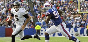 Flacco braccato  da  Williams: per il qb dei Ravens 5 intercetti. Reuters
