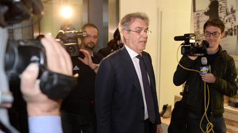Il presidente dell'Inter Massimo Moratti. Ansa