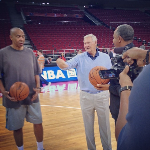 Generazioni Nba a confronto: Jerry West con Mychal Thompson e Dell Curry