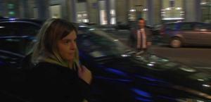 La figlia Dalma Maradona arriva all'hotel