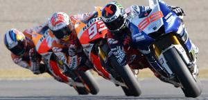 Lorenzo precede le Honda e vince a Motegi. Afp