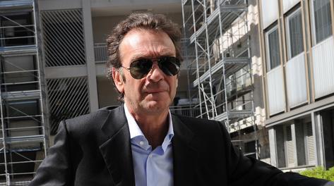 Il presidente del Cagliari, Massimo Cellino. Ansa