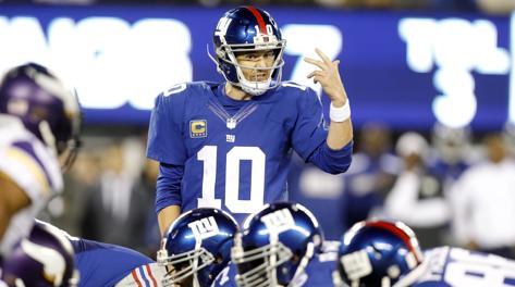 Eli Manning contro i Vikings. Usa Today
