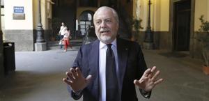 Aurelio De Laurentiis,  64 anni, presidente del Napoli. Ansa