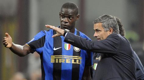 Balotelli e Mourinho ai tempi dell'Inter. Ansa