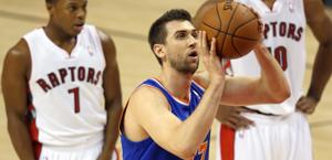 Andrea Bargnani, 28 anni domani, alla prima stagione a New York. Usa Today Sports