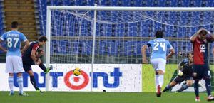 Il rigore di Gilardino per il 2-0. Ansa