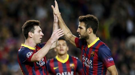 Troppo Messi per il Milan. Reuters