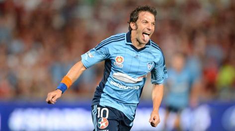 Alessandro Del Piero, 39 anni, seconda stagione al Sydey. Epa