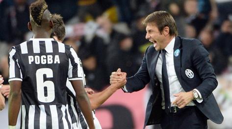 La gioia di Conte dopo Juve -Napoli. Ansa