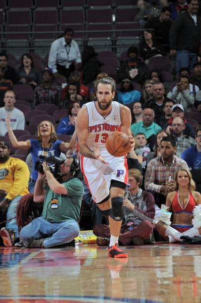 Gigi Datome, all'esordio in Nba con i Pistons Afp