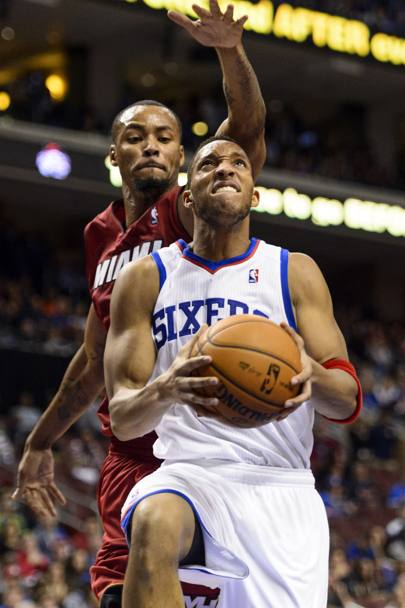 Evan Turner, guardia dei Sixers, viaggia a 23 punti a partita Usa Today