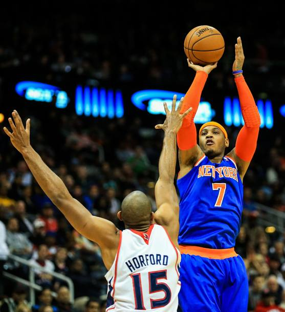 Carmelo Anthony, dalle sue mani 23.4 punti per i Knicks Usa Today