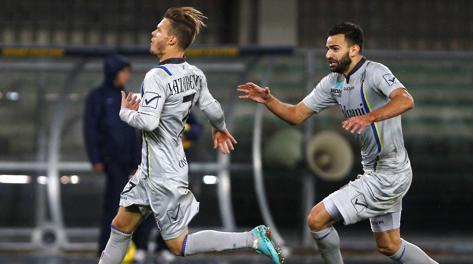 La gioia di Dejan Lazarevic dopo il gol vittoria. LaPresse