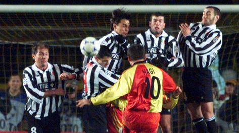 Galatasaray-Juventus del dicembre 1998. Reuters