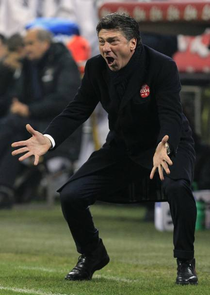 La rabbia di Walter Mazzarri. Action Images