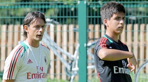 Christian Maldini con Filippo Inzaghi. Buzzi