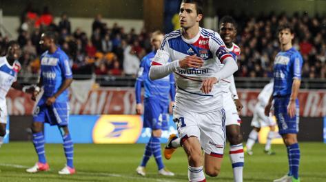 Maxime Gonalons, capitano del Lione: è cresciuto nel vivaio del club, dal 2009 in prima squadra. Reuters