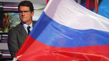 Il c.t. della Russia, Fabio Capello. Afp