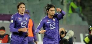 Aquilani esulta con Matri: 3 gol al Genoa. Ap