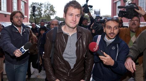 Alex Schwazer, 29 anni, prima di un'audizione al Coni nel 2012. LaPresse