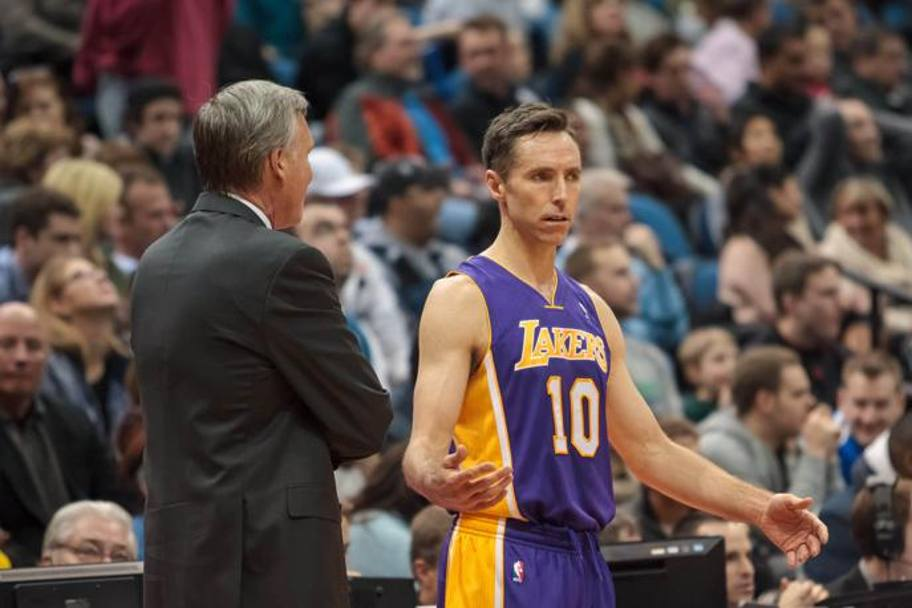 Il play a colloquio con coach Mike D'Antoni. Usa Today Sports