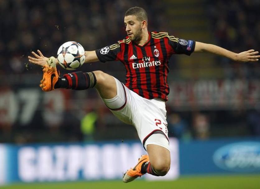 Adel Taarabt, in azione con il Milan di Seedorf