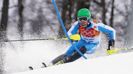 Stefano Gross in azione in Russia. Afp