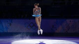 Carolina Kostner, 27 anni, ha dato spettacolo anche al Gala di Sochi. Afp