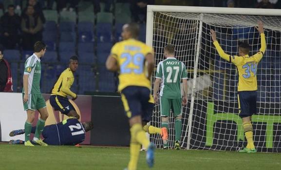 Neppure 20'' di gioco e Keita porta in vantaggio la Lazio. Epa