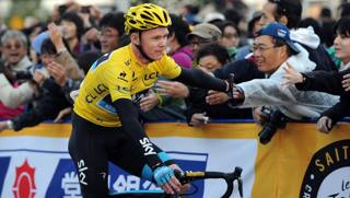 Chris Froome, 28 anni, in trionfo al Tour de France 2013. Afp