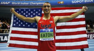 Ashton Eaton, 26 anni. Reuters