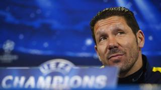 Diego Simeone, tecnico dell'Atletico Madrid. Afp