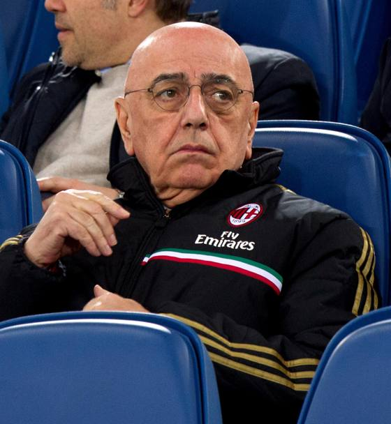 Galliani in tribuna. Ansa