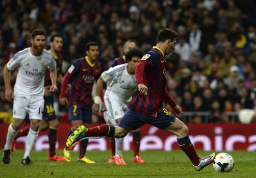 Altro rigore: Messi fa 4-3 e fa vincere il Barça. Afp