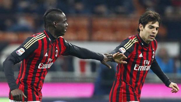 Mario Balotelli e Kakà: i match-winner di Milan-Chievo. LaPresse