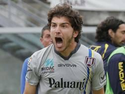 L'esultanza di Alberto Paloschi, 24 anni. Ansa