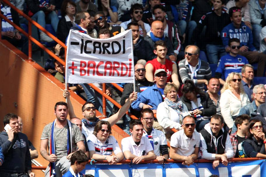Anche ai tempi della Sampdoria Icardi non era proprio il preferito della tifoseria!