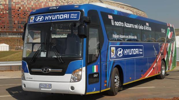 Il bus dell'Italia nel 2010