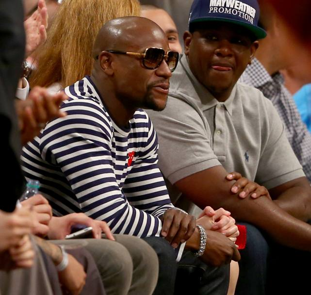 Anche Floyd Mayweather Jr. al Barclays Center. Afp