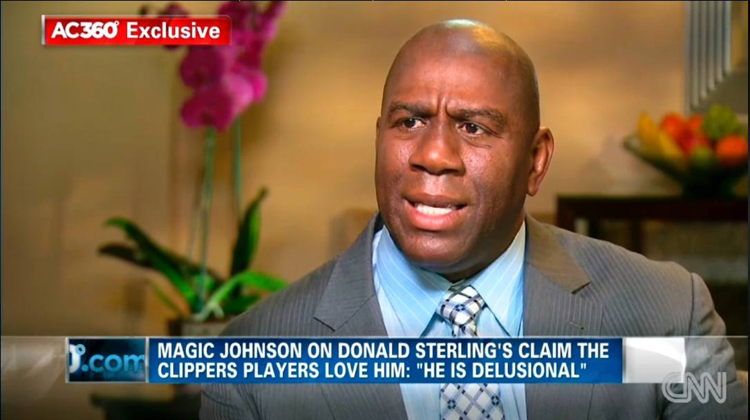 Magic Johnson in un'intervista alla Cnn parla di Donald Sterling, proprietario dei Clippers radiato dalla Nba per le dichiarazioni razziste (Ap)