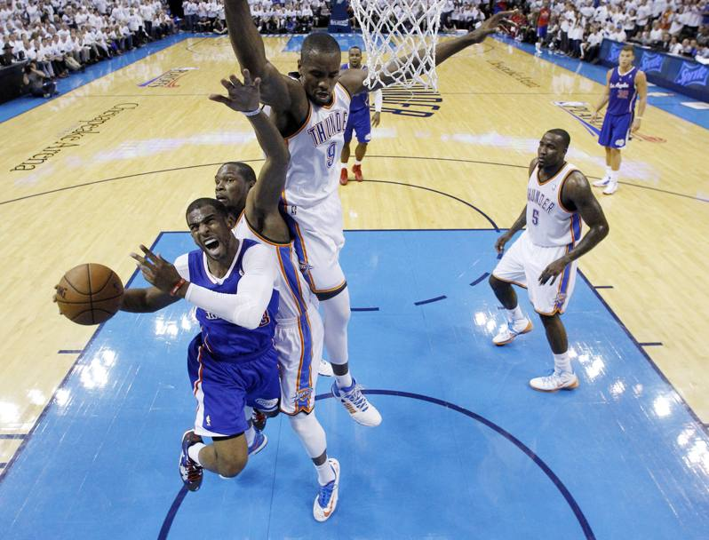 Gara-5 Western Conference, Oklahoma City Thunder vs Los Angeles Clippers 105-104 (Ap)